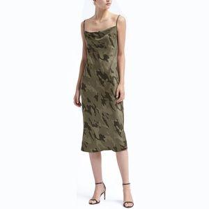 Banana Republic Strappy Camo Print Slip Dress
